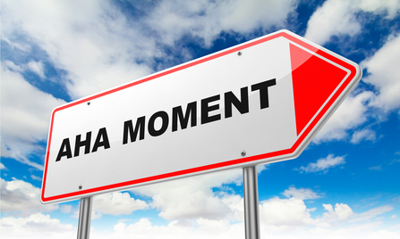 Aha Moment Sign