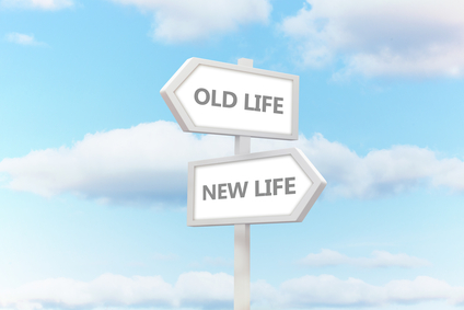 Old Life New Life Sign