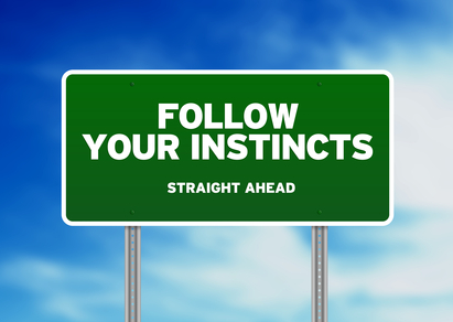 Follow Your Instincts Sign
